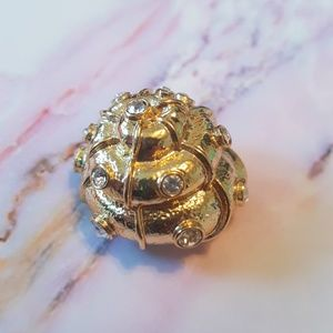 fornash Jewelry - FORNASH GOLD BLING SEASHELL NAUTILUS PIN BROOCH
